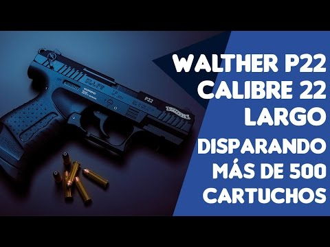 Pistola Walther P22 Calibre 22 largo Disparando mas de 500 cartuchos