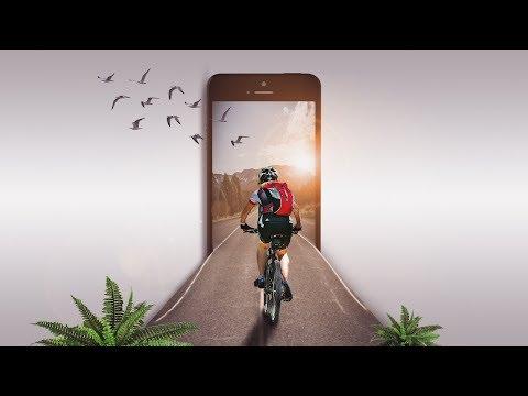 3d Mobile Pop Out Effect | Photoshop Tutorial Cs6/cc