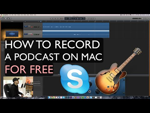 How to RECORD A PODCAST with SKYPE and GARAGEBAND (MULTITRACK) on Mac