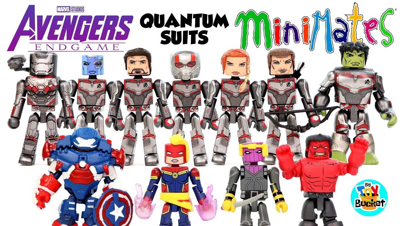 AVENGERS ENDGAME Marvel Minimates Set of 4 THANOS HULK Walgreens Exclusive 2019
