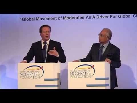 Prime Ministers David Cameron and Najib Razak on the Global Movement of Moderates