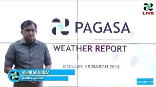 Public Weather Forecast Issued at 4:00 AM March 26, 2018