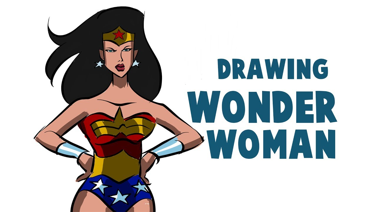 drawing wonder woman cartoon how to draw wonder woman