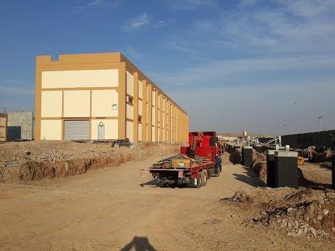 400 KV GIS BUILDING , CONSTRUCTING BUILDING , انشاء بناية في محطة كهرباء