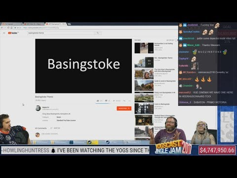 Simon, Lewis and Mousie Reacts to Basingstoke Theme with Twitch Chat