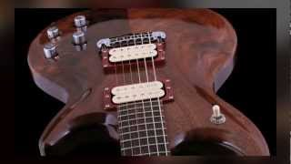 Vibrance Guitars #005 Walnut Burl Double-Cut Demo