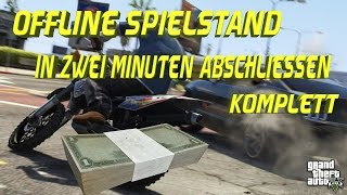 GTA 5 | Offline | 100% Abgschlossener Spielstand in 2 Minuten [Deutsch] [Full HD]