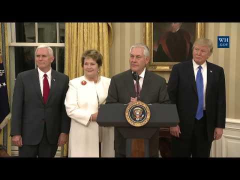 Swearing in of Secretary of State Rex Tillerson