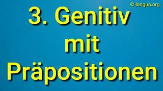 A1, A2, B1, B2 Übungen Präpositionen mit Genitiv des, der, eines, einer, meines, meiner Dativ Akk