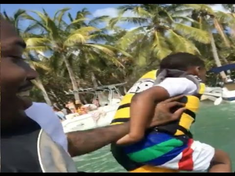 Meek Mill Throws Son(Papi) In Water