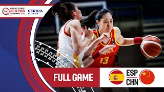 Spain V China - Full Game - Fiba Women's Olympic Qualifying Tournament  2020