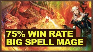 75 win rate big spell mage crushes meta hearthstone