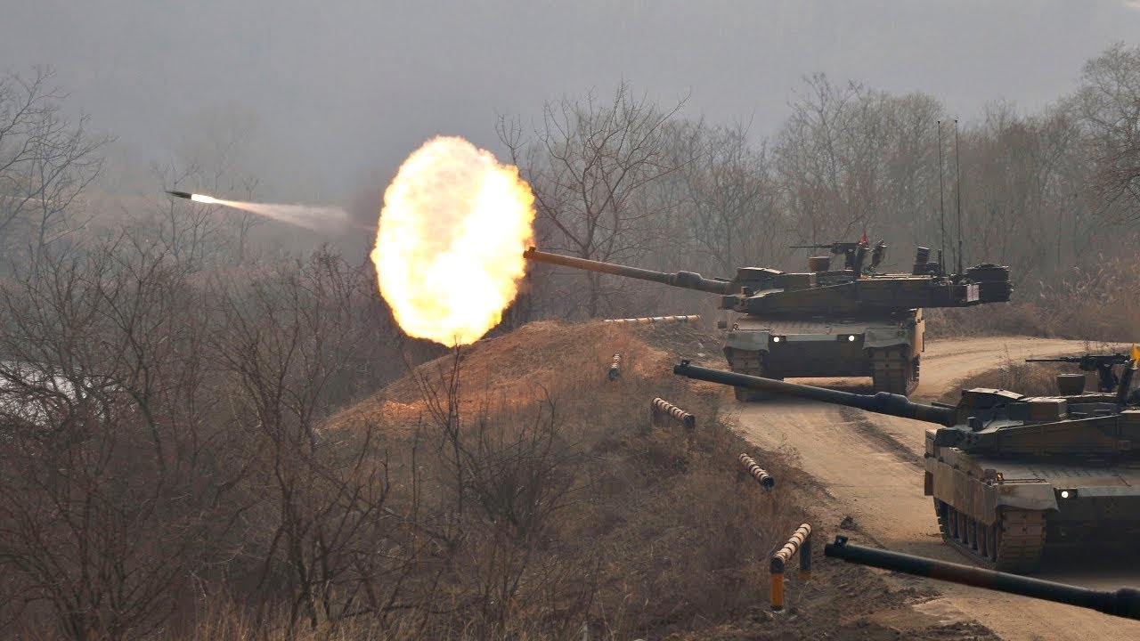 Worth The Watch For The Sounds Alone! South Korean Main Battle Tanks In Action: Loud Tank Live Fire