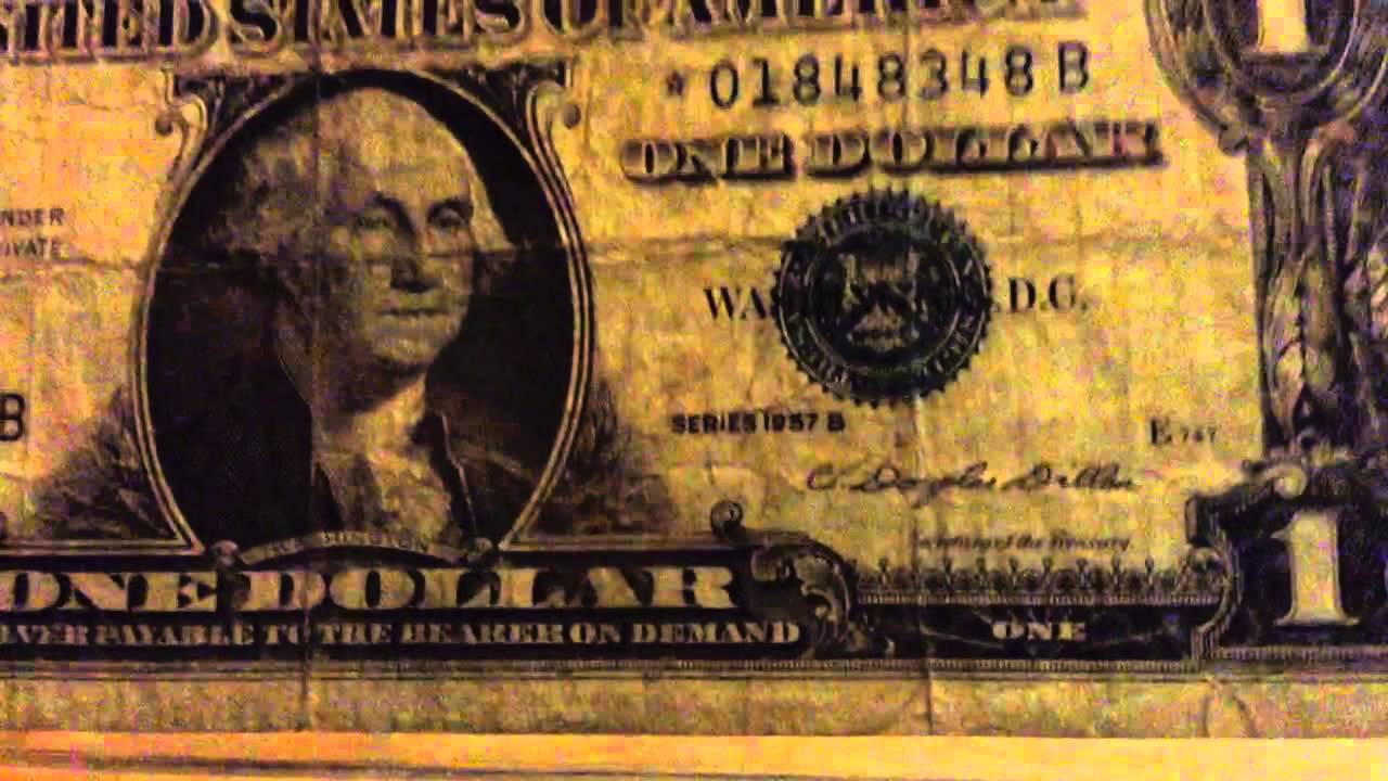 1 Silver Certificate Star Note From 1957 Youtube