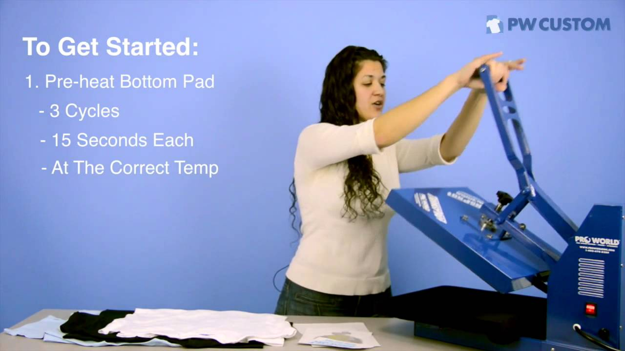 3f8ff2613 How to Apply Custom Transfers with your Heat Press. Pro World