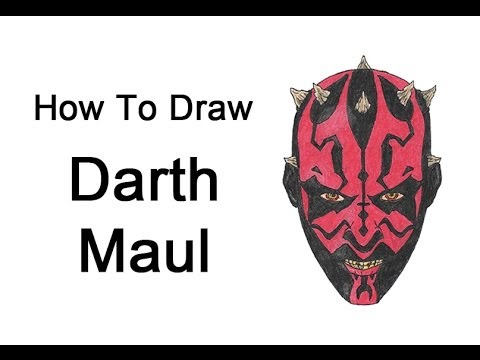 How to Draw Darth Maul (Star Wars) - YouTube