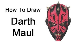 How to Draw Darth Maul (Star Wars)