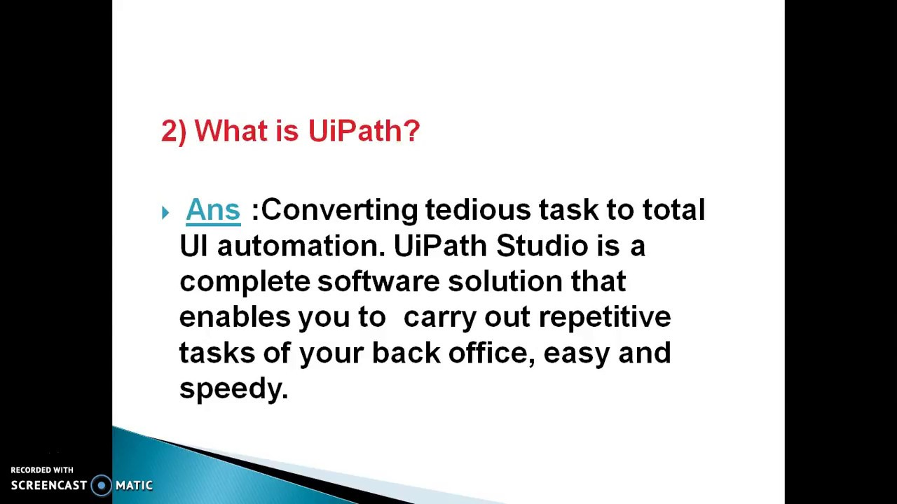 RPA - UiPath Foundation Interview Questions and Answers