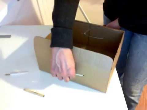 Как сделать из картона коробку с ручкой для выдвигания. Без склеивания. | Идеи для хранения
