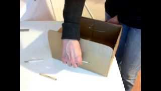 Как сделать из картона коробку с ручкой для выдвигания. Без склеивания. | Идеи для хранения(Место в шкафу можно освободить, переместив часть вещей в коробки на открытые полки. При этом нужно, чтобы..., 2015-01-02T09:33:40.000Z)