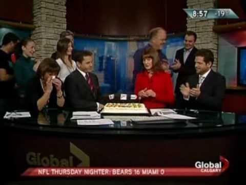 Angela Kokott Say's Farewell to Global Calgary Morning News