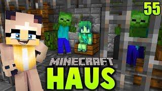 WIR FINDEN EIN ZOMBIE MÄDCHEN IM GEFÄNGNIS ✿ Minecraft HAUS #55 [Deutsch/HD]