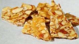 Almond Chikki Or Almond Brittle