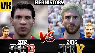 FIFA HISTORY 2012 vs 2016: FIFA 13 VS FIFA 17 PLAYER FACES COMPARISON!