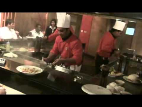 crowne plaza Kuwait teppanyaki show part 1