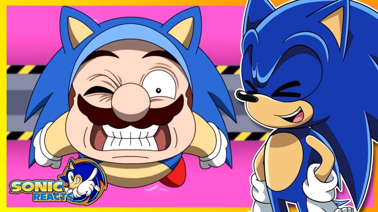 MARIO STOLE SONIC'S ROLE!! Sonic Reacts Mario and Luigi: Super Sonic Bros Animated