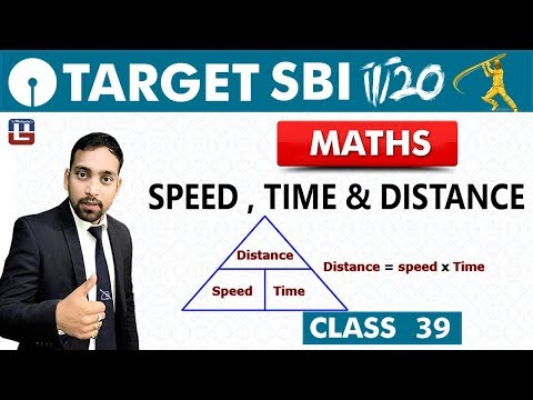 SBI Clerk Prelims 2018 | Speed ,Time & Distance | Maths | Live At 10 am | Class - 39