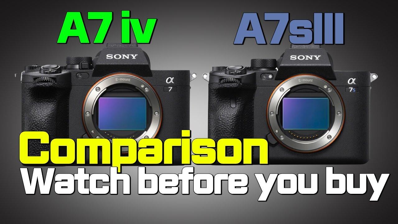 소니 A7iv vs 소니 A7s III, 비교한다면?