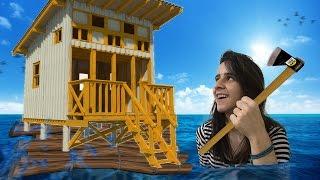 CONSTRUI UMA CASA NO MEIO DO OCEANO : RAFT 3#