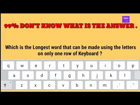 Which Is The Longest Word That Can Be Made Using The Letters On Only One Row Of Keyboard? Episode. 4