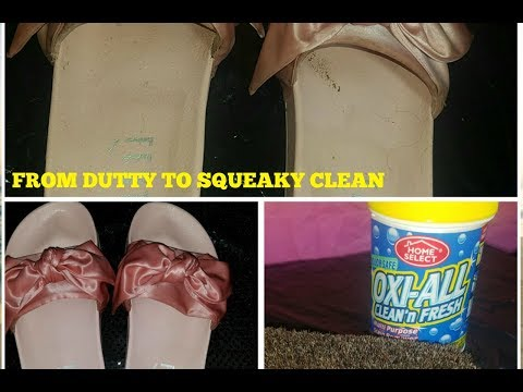 HOW TO CLEAN RIHANNA PUMA  BOW SLIDES | DIY CLEANING SLIDES