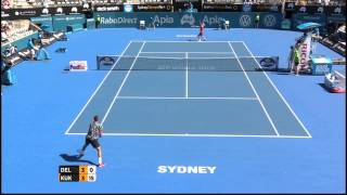 Juan Martin Del Potro v Mikhail Kukushkin highlights - Apia International Sydney 2015