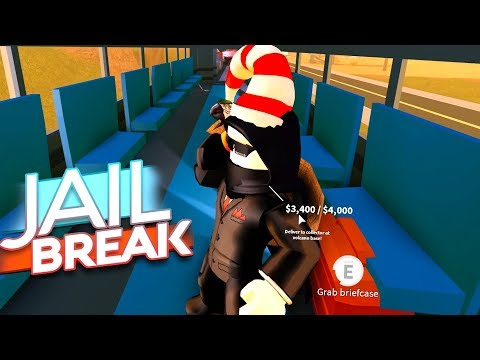 CRIME BOSS ROBS NEW JAILBREAK TRAIN (Roblox Jailbreak)
