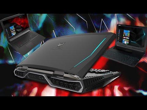 Notebooks gamer Acer Predator Trinton 700 Helios 300 e Predator 21 X