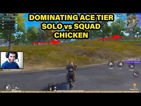 SOLO VS SQUADS CHICKEN DINNER RANK ACE-5200😂🤣 - (HIGHLIGHT #7)