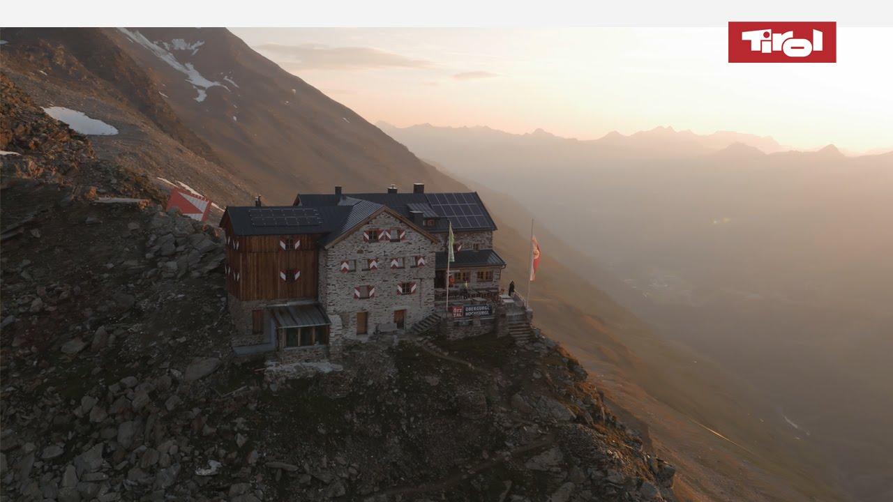 Das Ramolhaus in den tztaler Alpen  Schne Berghtten in