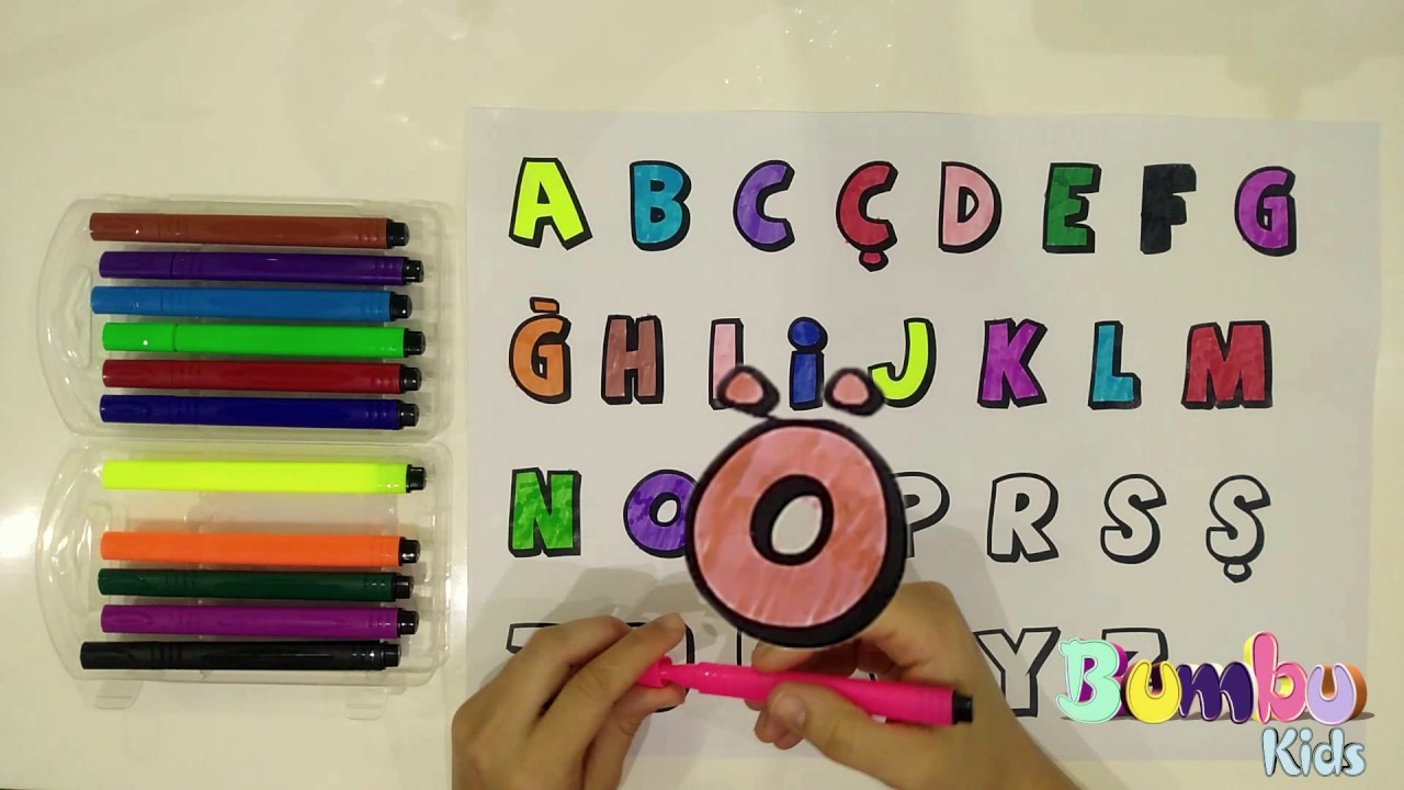 Harf Boyama Alfabe Alphabet Painting Coloring Pages Drawing