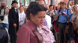 �������� ���� Рыбинск Прибытие ретро поезда 04 08 2018 ������