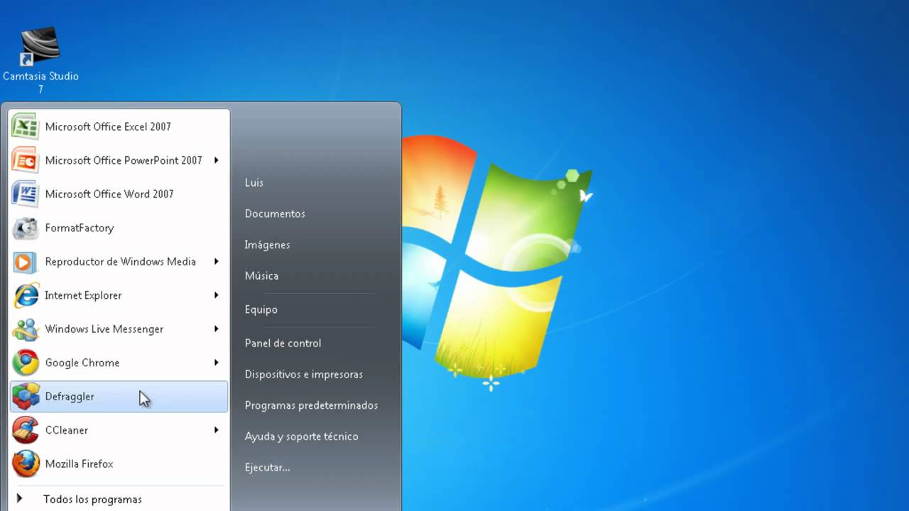 Como regresar la barra de busqueda en el menu de inicio de windows 7 y vista - YouTube