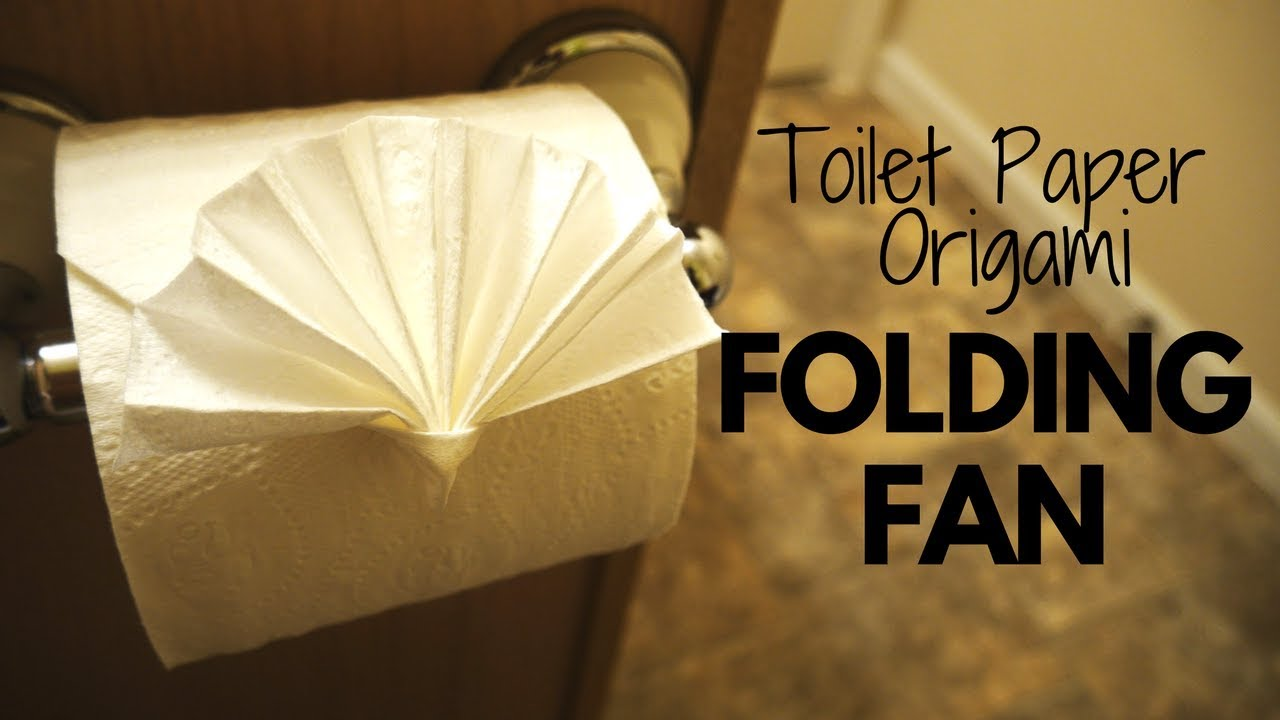 e253eb303 How to make Toilet Paper Origami Folding Fan (easy!) - YouTube