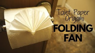 How to make Toilet Paper Origami Folding Fan (easy!)