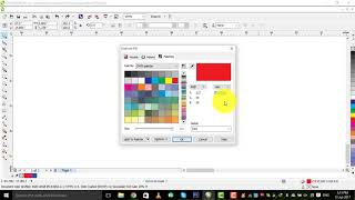 how to color a thing by hex code in corel draw