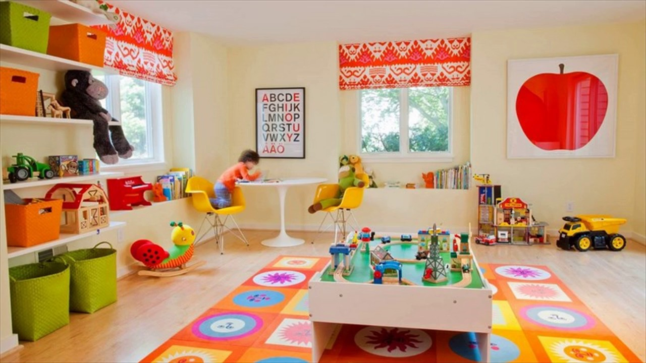Colorful Kids Playroom Design Ideas - YouTube