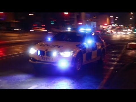 Northumbria Roads Policing Unit responding to join a pursuit in Newcastle