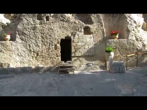 A tour inside the burial site of Jesus Christ, the Garden Tomb Jerusalem