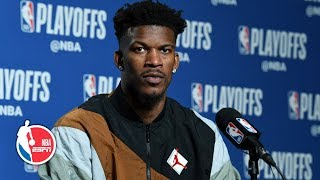 He hit a tough one - Jimmy Butler on Kawhi's series-winner vs Sixers  | 2019 NBA Playoffs